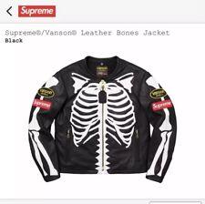 Supreme Vanson Leather Bones Jacket Black Large  BRAND NEW -  SEALED!