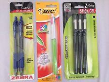 New Bic Zebra 4 Multi Color Sarasa Z Grip Retractable Gel Stick Pen Lot of 3