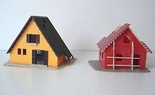 LOT 2 MAQUETTES MONTEE  CHALET + MAISON EN CONSTRUCTION - JOUEF - ECHELLE HO