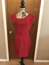 The Limited Red Short Sleeve Assymetrical Neck Dress New With Tags NWT 6 Regular