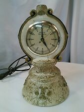 Vtg Oxford Self Starting Mantle Clock Gibraltar Co Gold swirl 40-50's retro