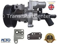 WATER PUMP WITH CONNECTOR & 2 GASKETS FITS FOR FORD TRANSIT MK7 2.4 2006-2014