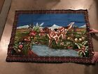 Vintage Hunting Dog Wall Tapestry Pheasants Approx. 52 X 37 Bird Dog Country