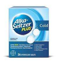 Alka-Seltzer Plus Cold Formula Effervescent Tablets Sparkling Original - 36 ct