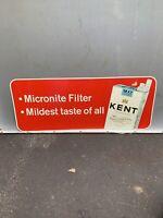 "Vintage Kent Cigarettes Tobacco Advertising Tin Sign  30""x 12"""