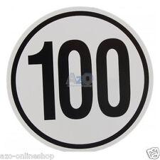 Tempo 100 km/h Aufkleber / Schild / Plakette / Geschwindigkeit Anhänger