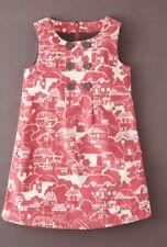 MINI BODEN Corduroy Pinafore Dress Rose Vale Gingerbread House SZ 7 8