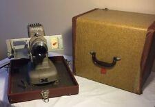 Vintage TDC Vivid Model D Selectron 35mm Slide Film Projector With Hard Case