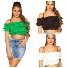 T-shirt, maglie e camicie da donna crop top in cotone