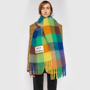 Acne Studios Schal Scarf Scarves Thick Rainbow color matching Shawl