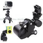 Handlebar Clamp Roll Bar Mount +Tripod Adapter for GoPro Hero 2 3+ 4 Camera Bike