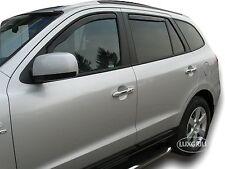 DHY17243 Hyundai Santa Fe 5 Puertas 2006-2013 HEKO Derivabrisas Negro 4 Piezas