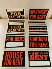 """HUGE Lot 24 MD Cole Duro 12"""" x 8"""" House Apartment For Rent Bright Plastic Signs"""