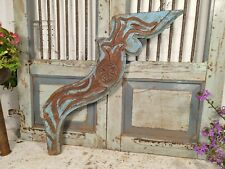More details for antique 19th century authentic indian architectural wooden temple carving corbel