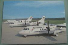 EUROWINGS Airplane Fleet Dusseldorf Germany Airport Hub Vintage Postcard