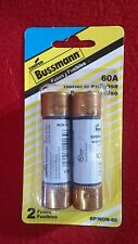 2 PACK  COOPER BUSSMANN BP/NON-60 ONE TIME BUSS GP FUSES 60A - FREE SHIPPING