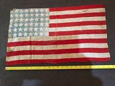 More details for vintage 2ft x 1ft american flag 48 stars between 1912 & 1959 war time flag