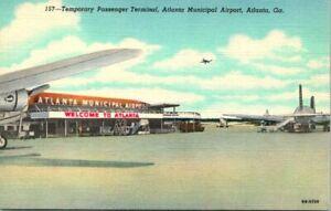 "Vintage Postcard  ATLANTA Georgia  ""TEMPORARY PASSENGER TERMINAL"""