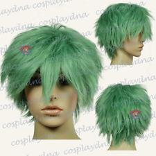 12 inch Ultra Series Hi Temp Jade Green Spiky Short Cosplay DNA Wigs 770J6
