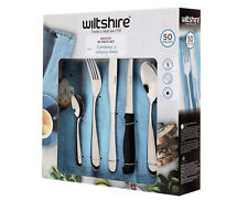 NEW Wiltshire Bronte Baguette 50 Piece Stainless Steel Cutlery 50588