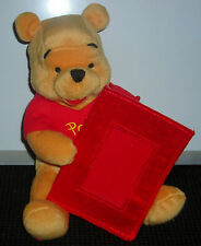 """DISNEY STORE EXCLUSIVE WINNIE THE POOH 8"""" PLUSH TOY WITH PICTURE FRAME"""