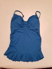 NW/OT Land's End Womens Dark Blue bathing suit top with Adjustable straps Size 8