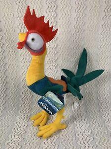 "Disney Moana HEI HEI Plush Chicken Rooster Plush 10"" With Tags Stuffed Animal"