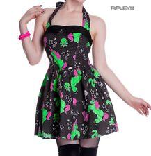 HELL BUNNY Party HEART ZOMBIES DRESS Mini BLACK All Sizes