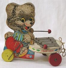 Vintage Fisher Price Pull Toy Shaggy Zilo #738 1960 Xylophone