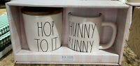 Rae Dunn - White HOP TO IT Canister & HUNNY BUNNY Mug Easter 🐣 Gift Set