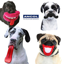Ancol Dog Lips Toy Squeak Moustache Tongue Mouth Cute Funny Puppy Xmas Gift