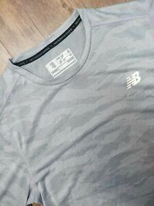 New Balance Shirt Adult Small Gray Q Speed Breathe Short Sleeve Athletic Mens