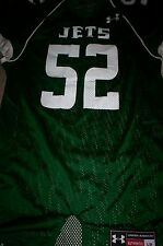 NEW!  UNDER ARMOUR  MENS FOOTBALL JERSEY SHIRT NY JETS #52-GREEN-LARGE