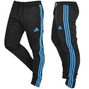 Adidas Herren Trainingshose Jogginghose Fußball Hose Sport Laufhose schwarz/blau