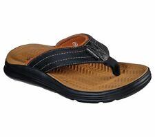 Men's Skechers Relaxed Fit: Sargo - Tenview Sandals, 204044 /BLK Multiple Sizes