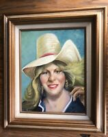 """Original Oil Painting by Vic Strzelbicki - Woman Rustic Ranch House Chic 11""""x14"""""""
