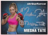 MIESHA TATE 2013 TOPPS UFC KNOCKOUT STRIKEFORCE AUTO #18/25 AUTOGRAPH