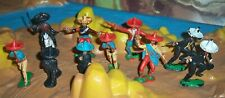 Job lot of plastic Mexican Cowboys probably Crescent in different colours