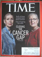TIME MAGAZINE MARCH 30 2015 CLOSING THE CANCER GAP BY ALICE PARK KEPT NEW