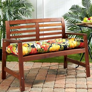 """Porch Swing Cushion Glider Bench Seat 44"""" Tufted Padded Patio Pillow Floral"""