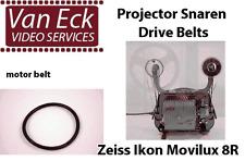 Zeiss Ikon Movilux 8R belts. 3 belt set (motor belt, supply-arm belt, take-up)
