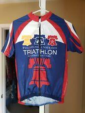 Full zip cycling jersey mens medium Philadelphia Triathlon