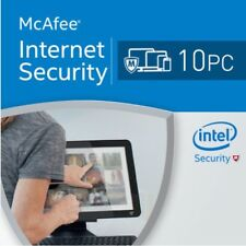 McAfee Internet Security 2018 10 PC 12 Months 2017 10 users MAC,WINDOWS,ANDROID