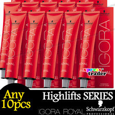 Any 10pcs Schwarzkopf IGORA ROYAL Permanent Colour Hair Dye Highlift Series 60ml