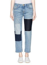 Sz 29 New Current /Elliott Jeans Boyfriend SUPER LOVED Field Patchwork Blue NWT