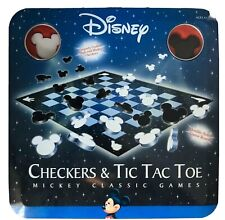 Disney Checkers & Tic Tac Toe a Mickey Classic Game in tin, Open Box/new