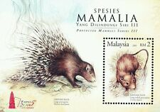 Protected Mammals Series Iii Malaysia 2005 Porcupine (Taipei o/p ms) Mnh