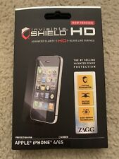 ZAGG Invisible Shield Screen Protection iPhone 4 4S NEW