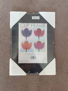 BNIB 21 x 29.7cm (8 x 12in) A4 Non Glass Break Resistant Clip Frame