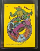 VINTAGE 1989 Topps Teenage Mutant Ninja Turtles - Laptop Sticker Sewer Skate 9